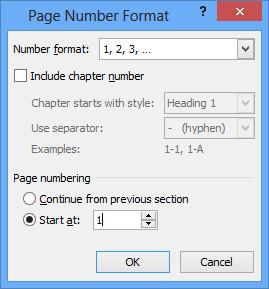 đánh số trang bất kỳ trong word