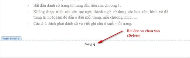 xoa danh so trang trong word 2