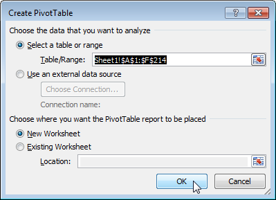 pivot table excel